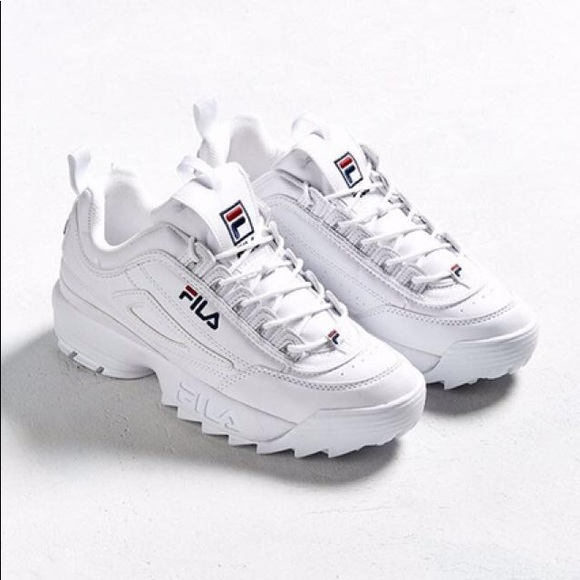 Used White Fila Disruptor II